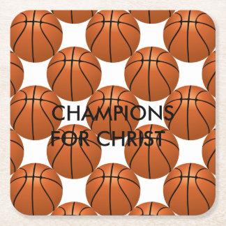 Champions Unashamed Square Paper Coaster