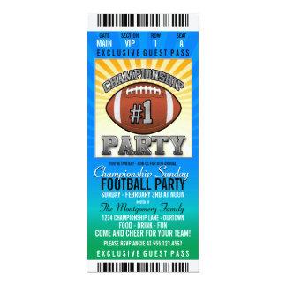 Championship Sunday Football Party Card
