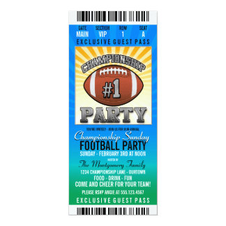 Championship Sunday Football Party Announcements