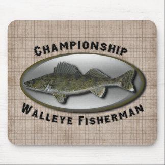 Championship Walleye Fisherman Mouse Pad