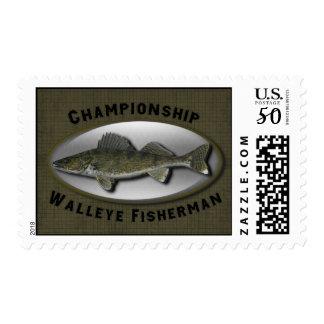 Championship Walleye Fisherman Postage