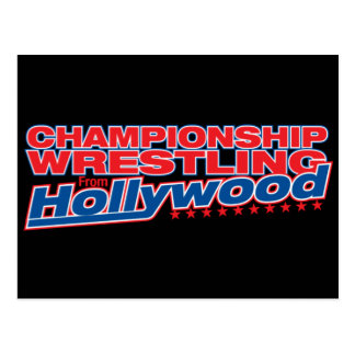 Championship Wrestling From Hollywood - Black Logo Postcard