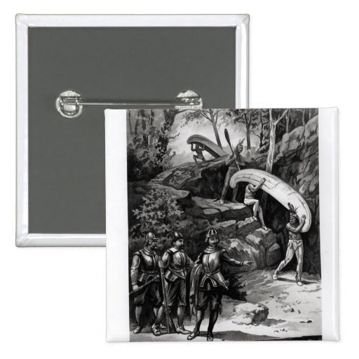 Champlain Exploring the Canadian Wilderness Pinback Buttons