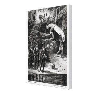Champlain Exploring the Canadian Wilderness Canvas Print