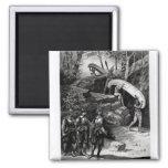 Champlain Exploring the Canadian Wilderness 2 Inch Square Magnet
