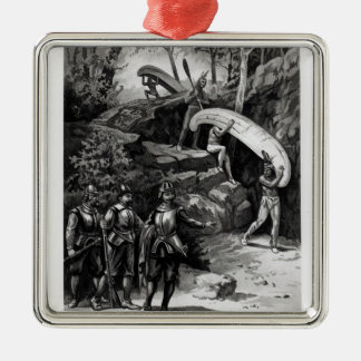 Champlain Exploring the Canadian Wilderness Metal Ornament