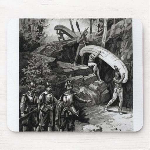 Champlain Exploring the Canadian Wilderness Mousepad