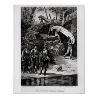 Champlain Exploring the Canadian Wilderness Print