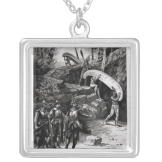 Champlain Exploring the Canadian Wilderness Silver Plated Necklace