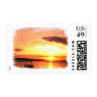 Champlain Sunset Postage
