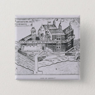 Champlain's View of Quebec Pinback Button