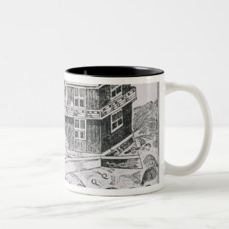 Champlain's View of Quebec Two-Tone Coffee Mug