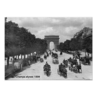 Champs elysee 1899  Print