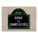 Champs Elysee Sign Greeting Card