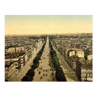 Champs Elysees, an avenue, Paris, France classic P Postcard