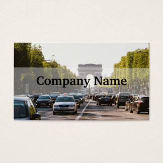 Champs Elysees and The Arc De Triomphe Business Card