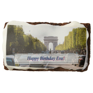 Champs Elysees and The Arc De Triomphe Chocolate Brownie