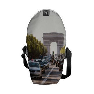 Champs Elysees and The Arc De Triomphe Courier Bags