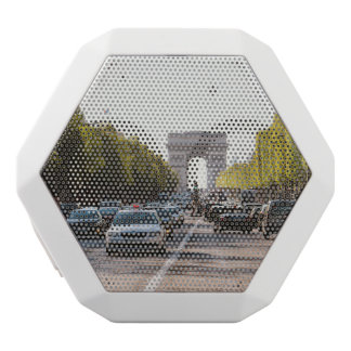 Champs Elysees and The Arc De Triomphe White Bluetooth Speaker