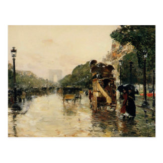 Champs Elysees, Hassam Post Card