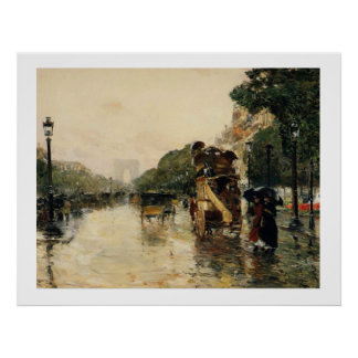 Champs Elysees, Hassam Poster
