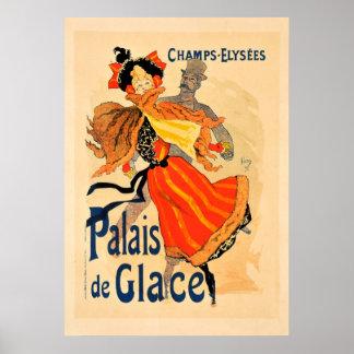 Champs Elysees Palais de Glace Vintage Poster