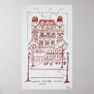 Champs Elysees   Paris, France Poster