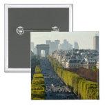 Champs ElysŽes 2 Inch Square Button