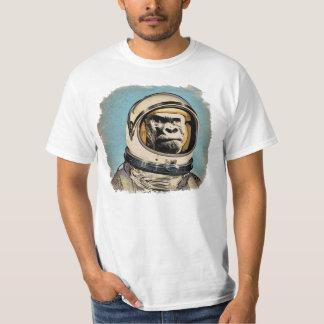 Chamusquina espacial   de l'e de Gorila Raum-Affe Remera