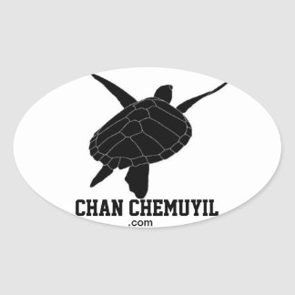 Chan Chemuyil Oval Turtle Bumper Sticker