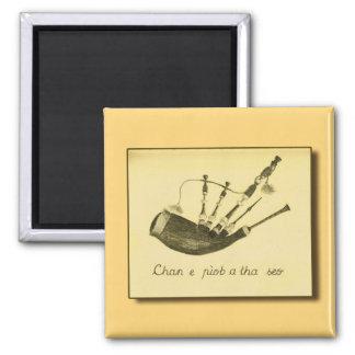 Chan e pìob a tha seo 2 inch square magnet
