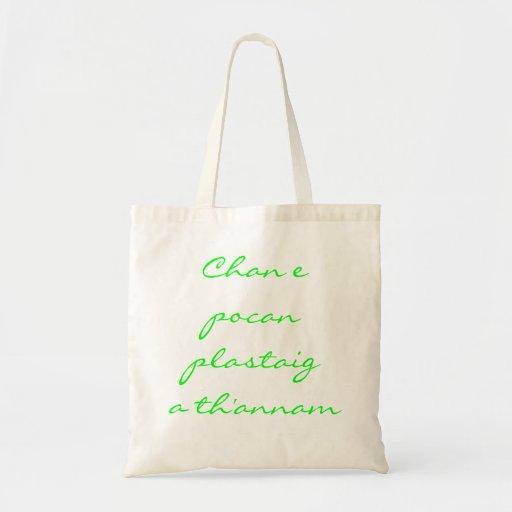 Chan e pocan plastaig a th'annam canvas bags