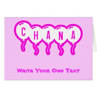 Chana Card