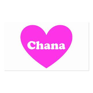 Chana Plantilla De Tarjeta De Negocio