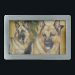 """Chana &amp; Win Tow Lovely German Shepherd Dogs Rectangular Belt Buckle<br><div class=""""desc"""">It is win of the German shepherd dog and the couple of chiyana. You had raised these two heads, for a long time, but last year also double head it was gone. First there is no chiyana, in order after that Wien half year while being, quite to chase after, it...</div>"""