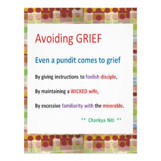 CHANAKYA NEETI -  Avoiding Grief Situations Letterhead