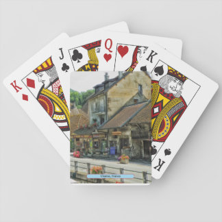 Chanaz, France Playing Cards