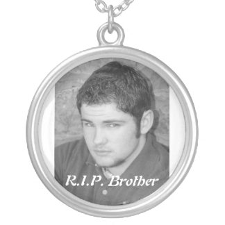 chance 10, R.I.P. Brother Silver Plated Necklace