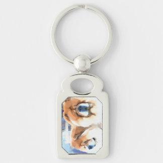 CHANCE & CHLOE heARTdog chow Keychain