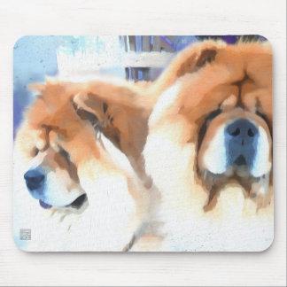 CHANCE & CHLOE heARTdog chow Mouse Pad