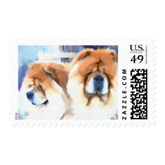 CHANCE CHLOE heARTdog chow Postage Stamps