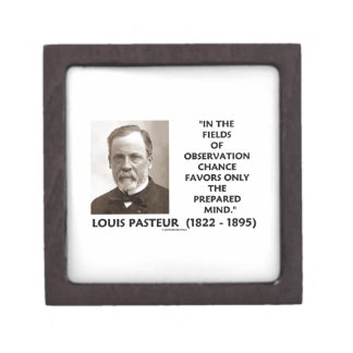 Chance Favors Only The Prepared Mind Pasteur Jewelry Box