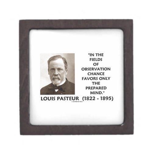 Chance Favors Only The Prepared Mind Pasteur Premium Trinket Boxes