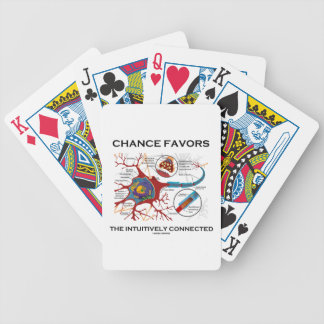 Chance Favors The Intuitively Connected (Neuron) Bicycle Playing Cards
