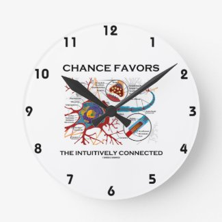 Chance Favors The Intuitively Connected (Neuron) Round Wall Clocks
