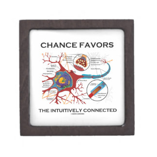 Chance Favors The Intuitively Connected (Neuron) Jewelry Box