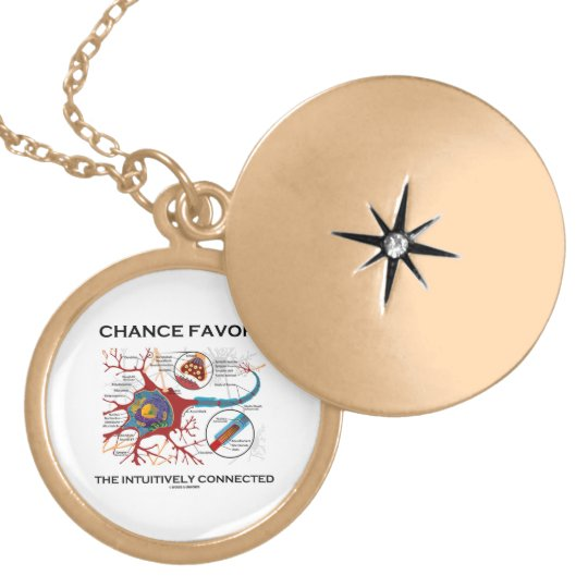 Chance Favors The Intuitively Connected (Neuron) Locket Necklace