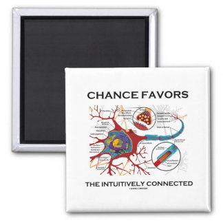 Chance Favors The Intuitively Connected (Neuron) Magnet