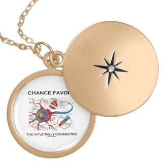 Chance Favors The Intuitively Connected (Neuron) Custom Necklace