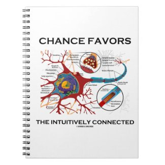 Chance Favors The Intuitively Connected (Neuron) Spiral Note Book